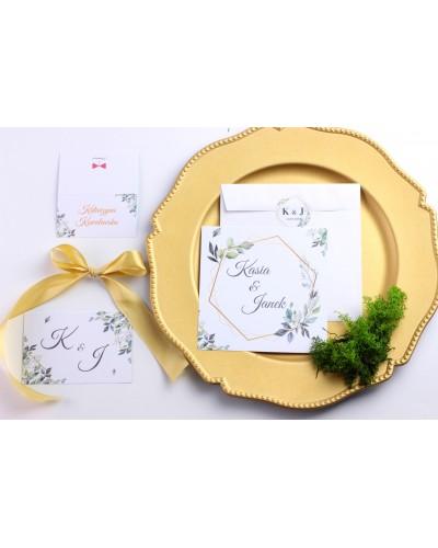 Zaproszenie Ślubne RSVP Kwiatowe Boho