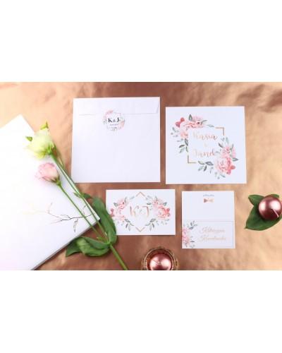 Zaproszenie Ślubne RSVP Luxury Flowers