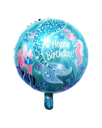 Balon foliowy Syrenka Happy Birthday