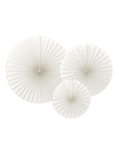 Rozety dekoracyjne, złamana biel
