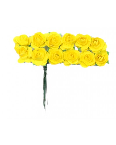 Różyczki papierowe żółte