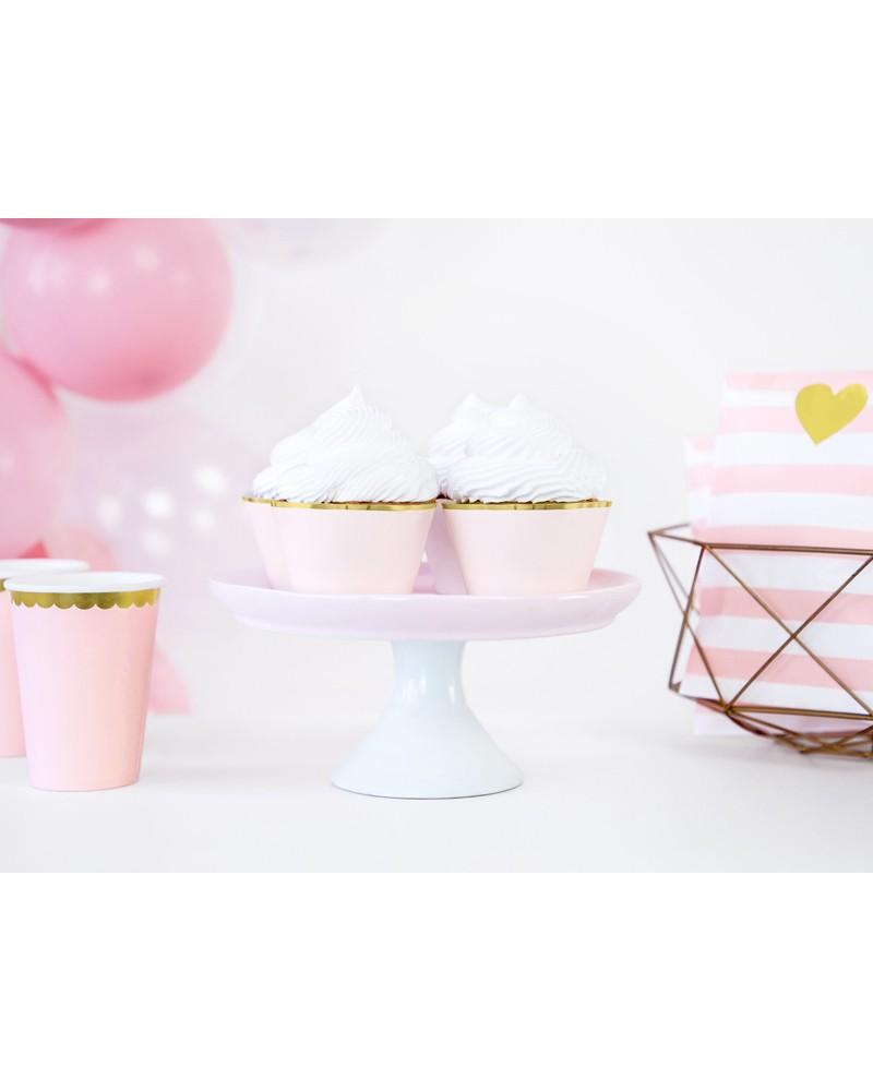Papilotki na muffinki j.róż Glamour