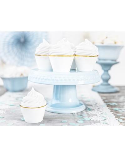 Papilotki na muffinki białe Glamour