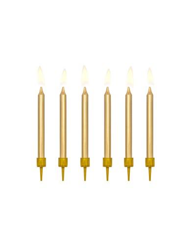 Świeczki urodzinowe krótkie złote