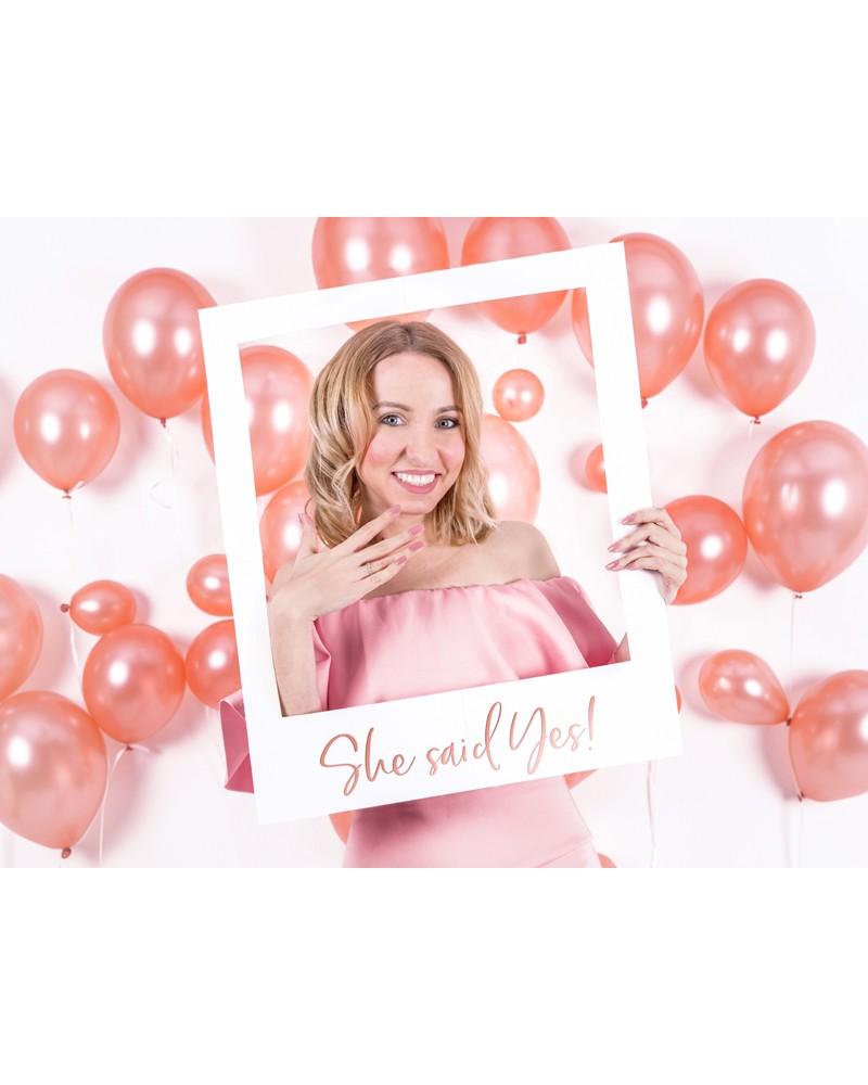 Ramka Selfie She said yes - Rose Gold