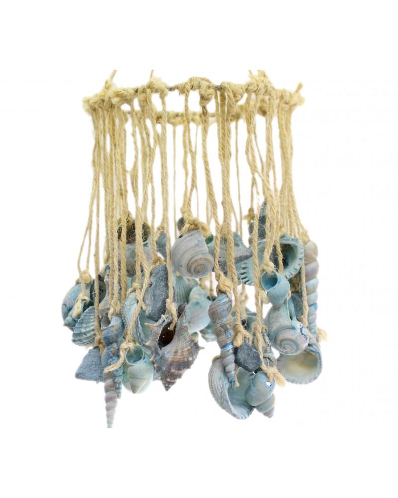 Muszelki dekoracja podwieszana Niebieskie