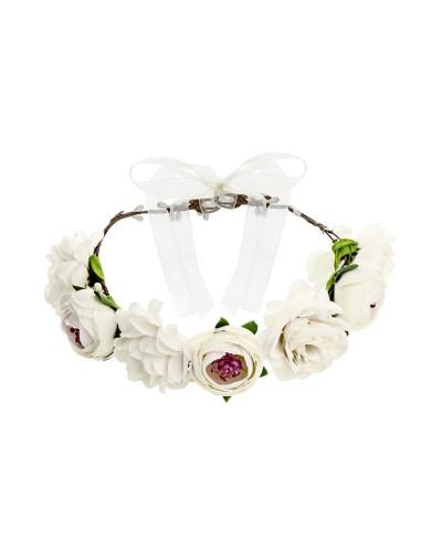 Wianek kwiatowy Biały