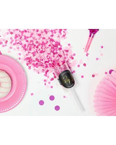 Konfetti wystrzałowe Push Pop róż mix