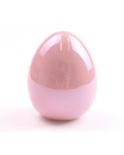 Jajko ceramiczne w kolorze różowym 5x6x5 cm
