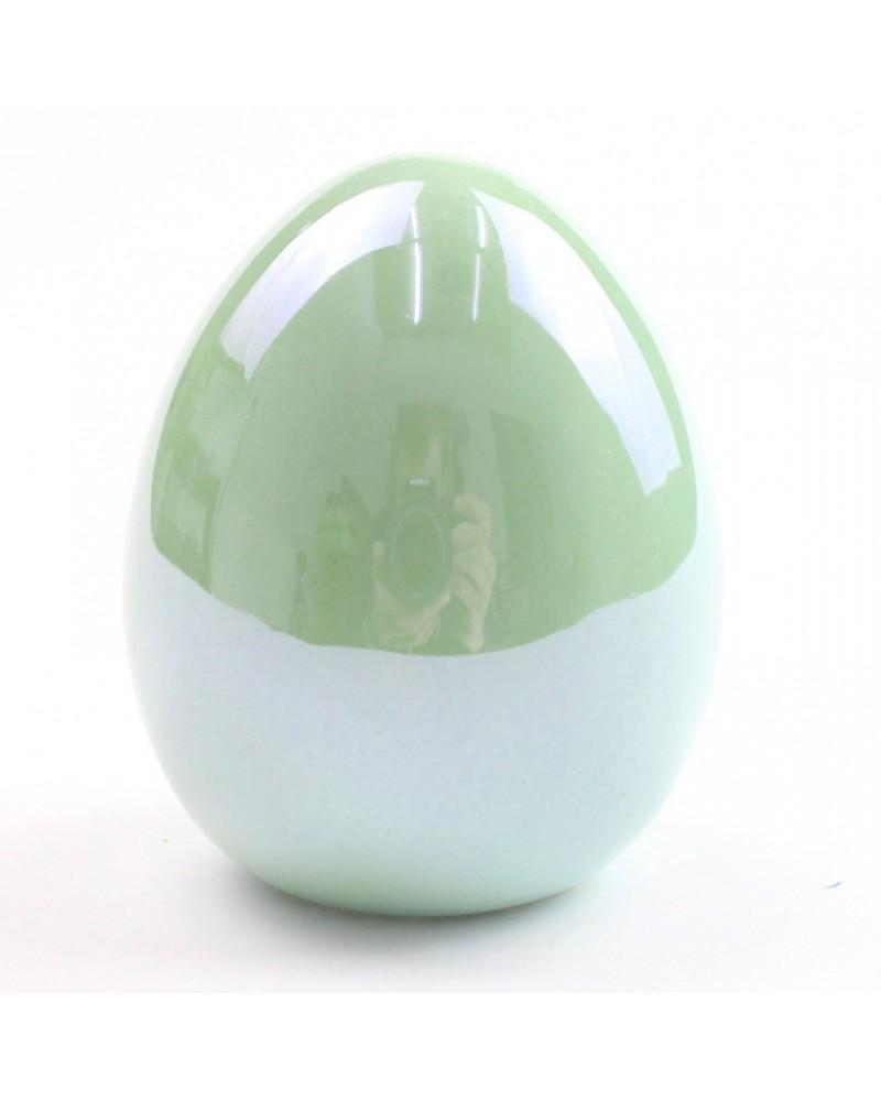 Jajko ceramiczne w kolorze miętowym 5x6x5 cm