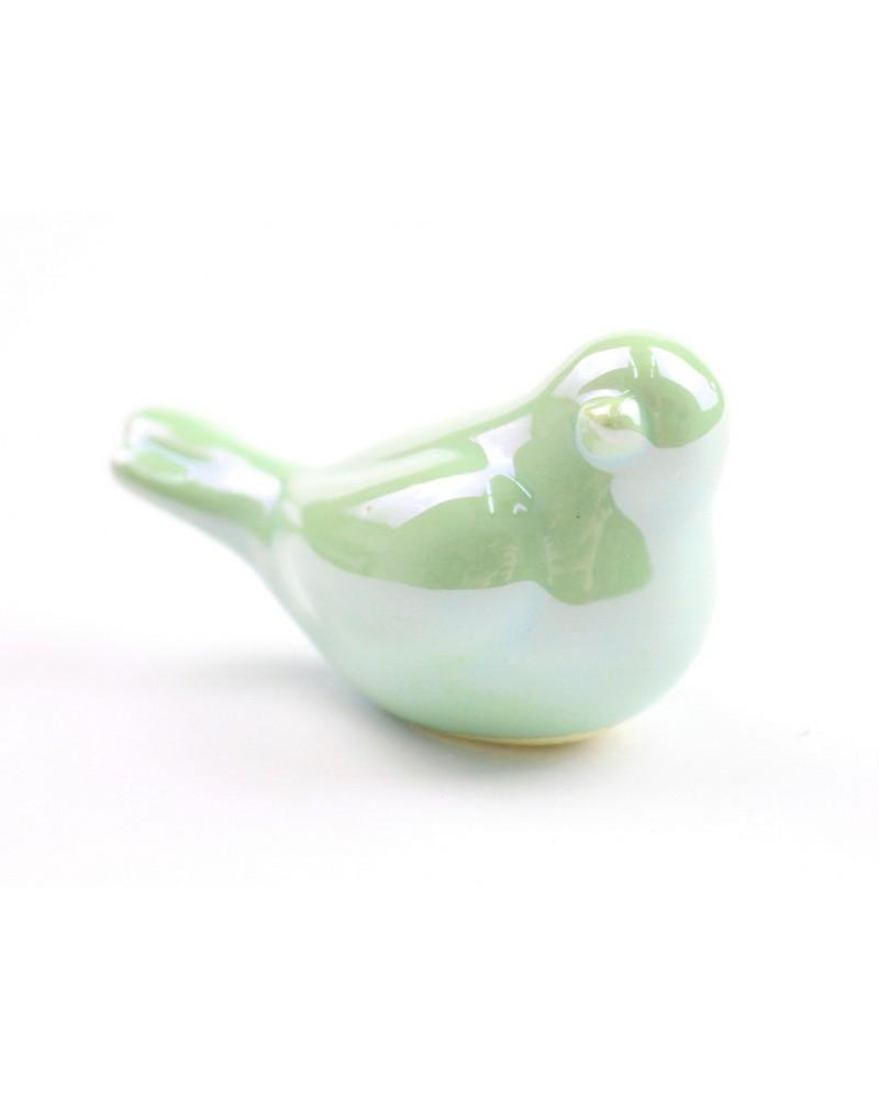 Ptaszek ceramiczny w kolorze miętowym 6.5x3.5x4 cm