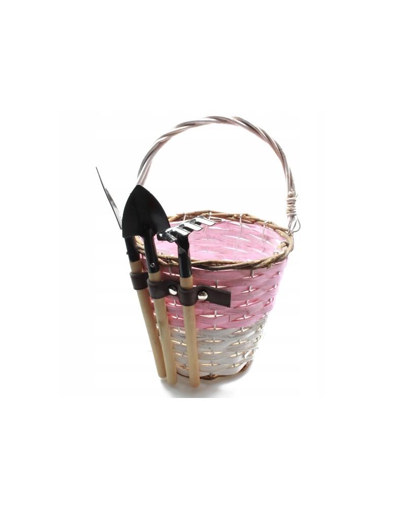Doniczka z narzędziami w kolorze Różowym