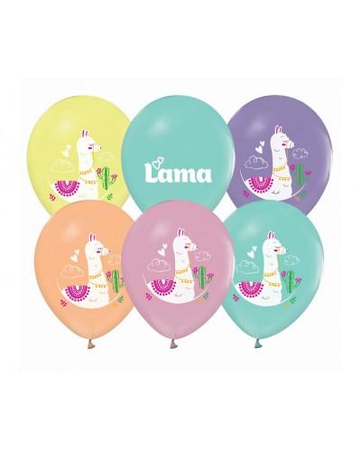 Balony lateksowe Lama pastelowe