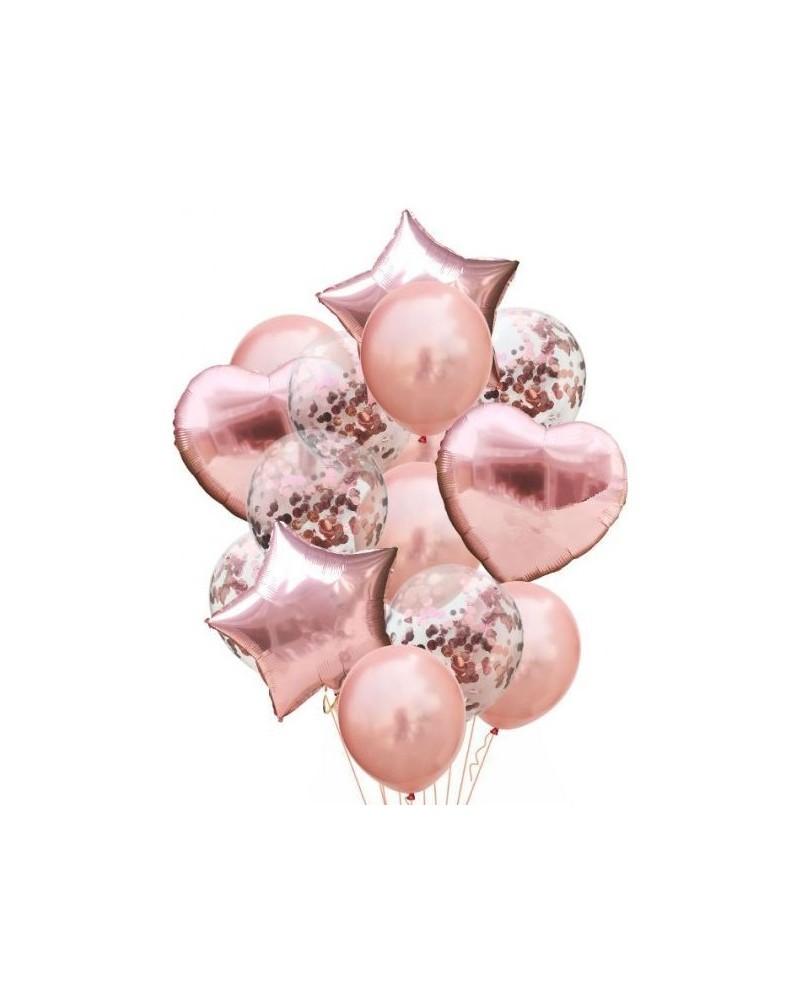 Zestaw na Urodziny Balony Rose Gold
