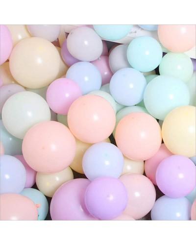 Makaroniki Balony Pastelowe 100szt. Mix