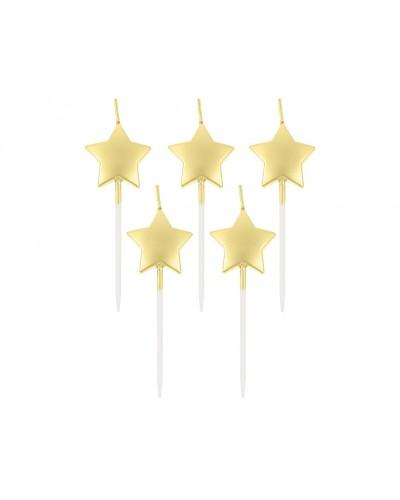 Świeczki pikery Gwiazdki złote