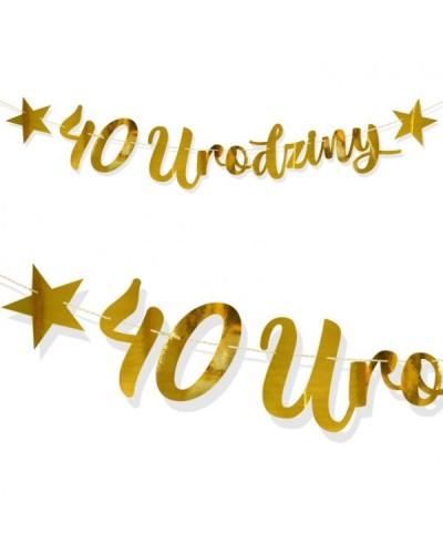 Baner na 40 Urodziny Złoty Lustrzany