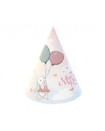Czapeczki papierowe na roczek Króliczek