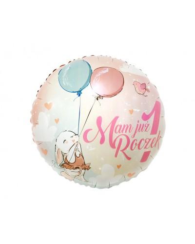 Balon foliowy na roczek Króliczek