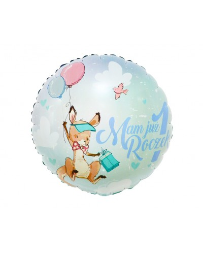 Balon foliowy na roczek Kangurek