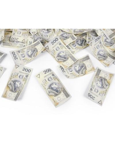 Tuba z banknotami 200 PLN