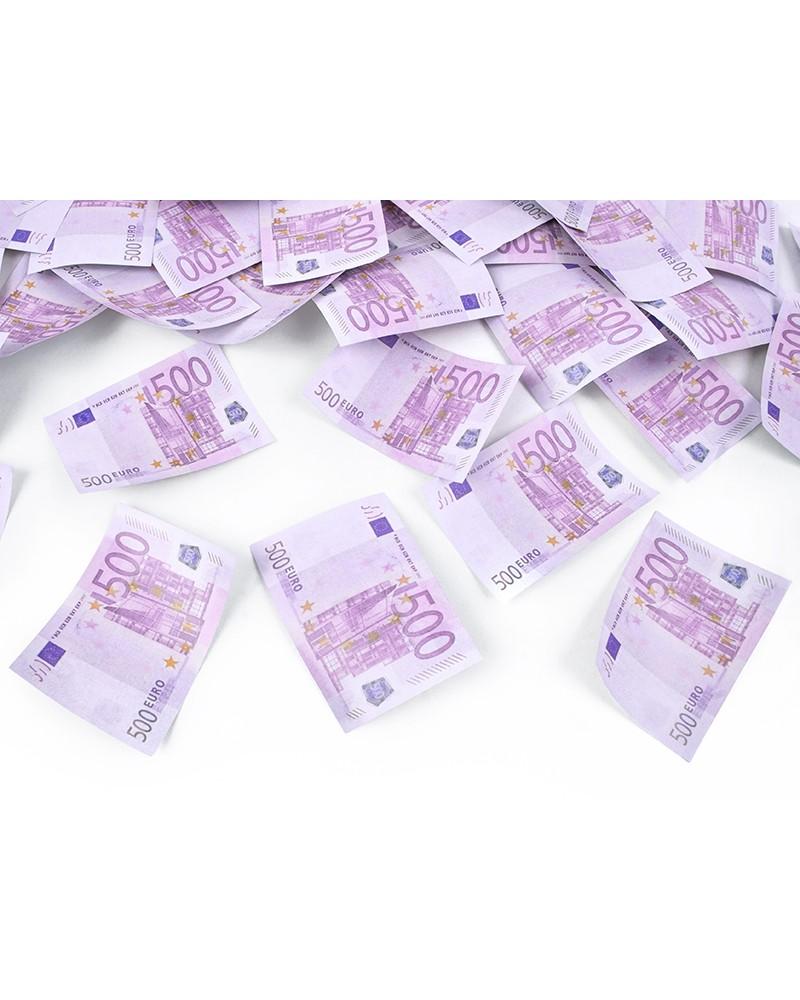Tuba z banknotami 500 EUR