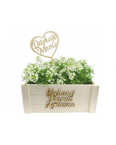 Skrzynka Na Kwiaty Prezent Dzień Matki Twój Napis