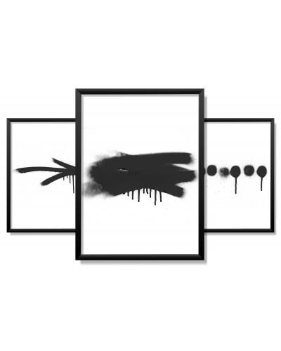 Obrazy w Drewnianej Ramie 90x40cm Grunge