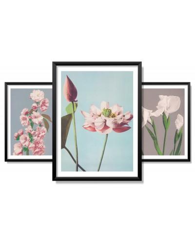 Obrazy w Drewnianej Ramie 90x40cm Retro Flower
