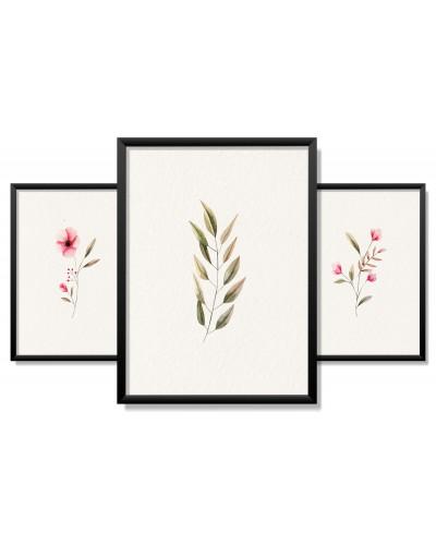 Obrazy w Drewnianej Ramie 90x40cm Spring Touch