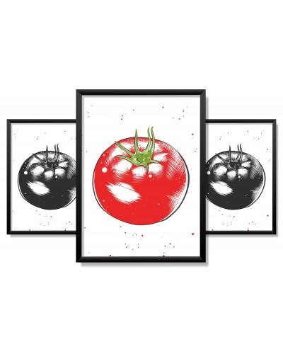 Obrazy w Drewnianej Ramie 90x40cm Tomato a Tegoniema