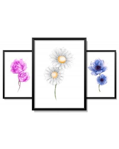 Obrazy w Drewnianej Ramie 90x40cm Total Spring