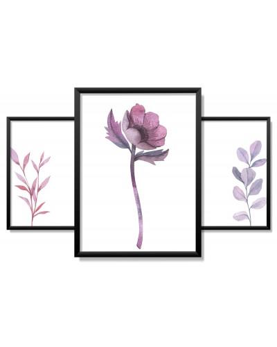 Obrazy w Drewnianej Ramie 90x40cm Violet Desire