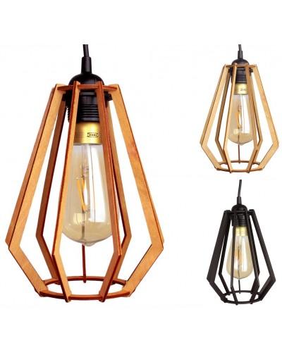 Lampa Sufitowa Wisząca Drewniana Model Brylant