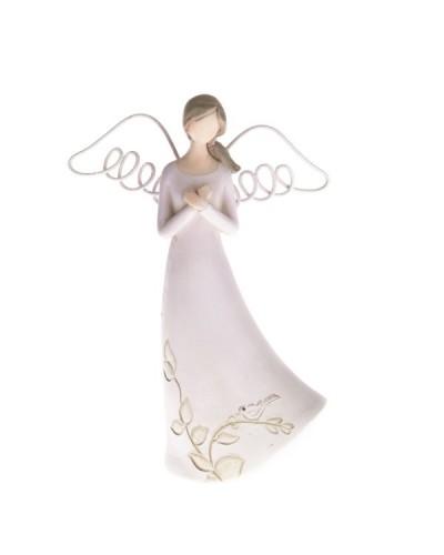 Anioł Figurka Ceramiczna Biały