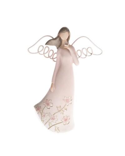 Anioł Figurka Ceramiczna Różowy