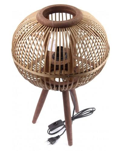 Lampka Nocna Bambusowa z Nóżkami Wysoka