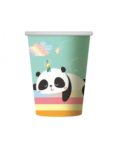 Kubeczki papierowe Panda pastel