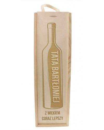 Pudełko Na Wino Z Grawerem Drewniane Na Prezent