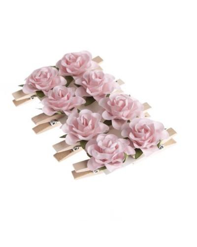 Różyczki Papierowe Na Klamerce Róż