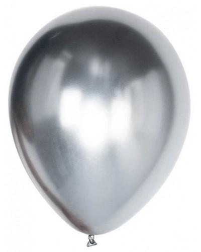 Balony chromowane 30cm Glossy Srebrne 10szt.