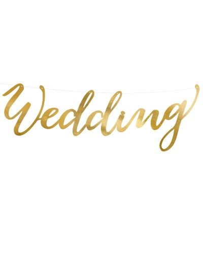 Baner lustrzany złoty Wedding