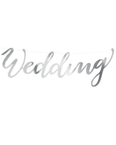 Baner lustrzany srebrny Wedding