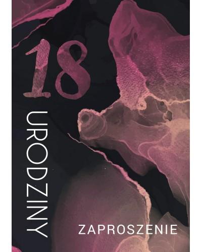 Zaproszenie na 18-stke Smokin Rose Pollock