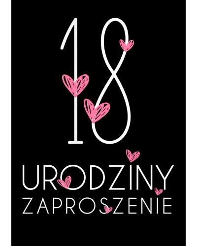Zaproszenie na 18-stke Miłość Miłość