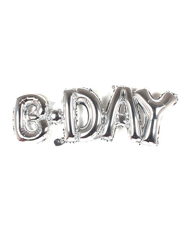 Balon foliowy B-Day Srebrny