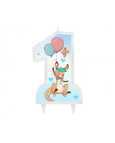 Świeczka 1 urodziny Kangurek