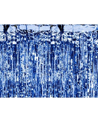 Kurtyna metalizowana Niebieska