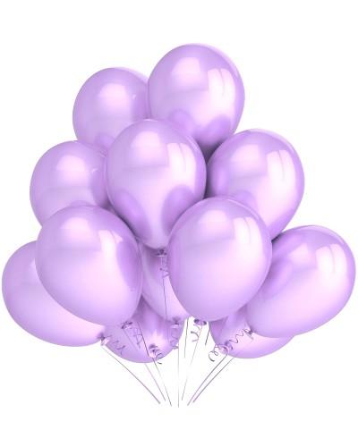 "Balony metaliczne 12"" lawendowe"