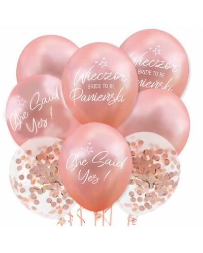 Balony na Wieczór Panieński Mix Rose Gold